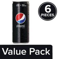 Pepsi Soft Drinks - Black, Slim, 6x250 ml Multipack