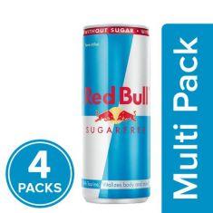Red Bull Sugar Free Energy Drinks, 4x250 ml Multipack