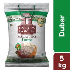 India Gate Basmati Rice - Dubar, 5 kg Pouch