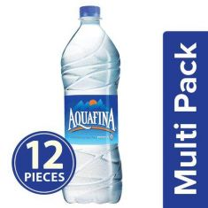 Aquafina Packaged Drinking Water, 1 L Pack of 12 pc