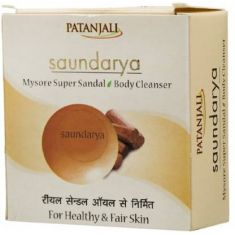 Patanjali Saundarya Mysore Super Sandal Soap  (4 x 18.75 g)