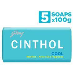 Cinthol Cool Bath Soap, 100g (Pack of 4) + 100g