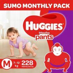 Huggies Wonder Sumo Pack - M  (228 Pieces)