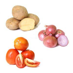 Potato 1kg Each,  Onion1 kg Each,   Tomato 1 kg Each,